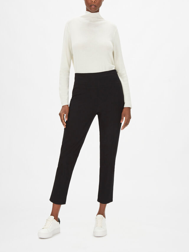 Stretch Crepe Ankle Grazer Pant