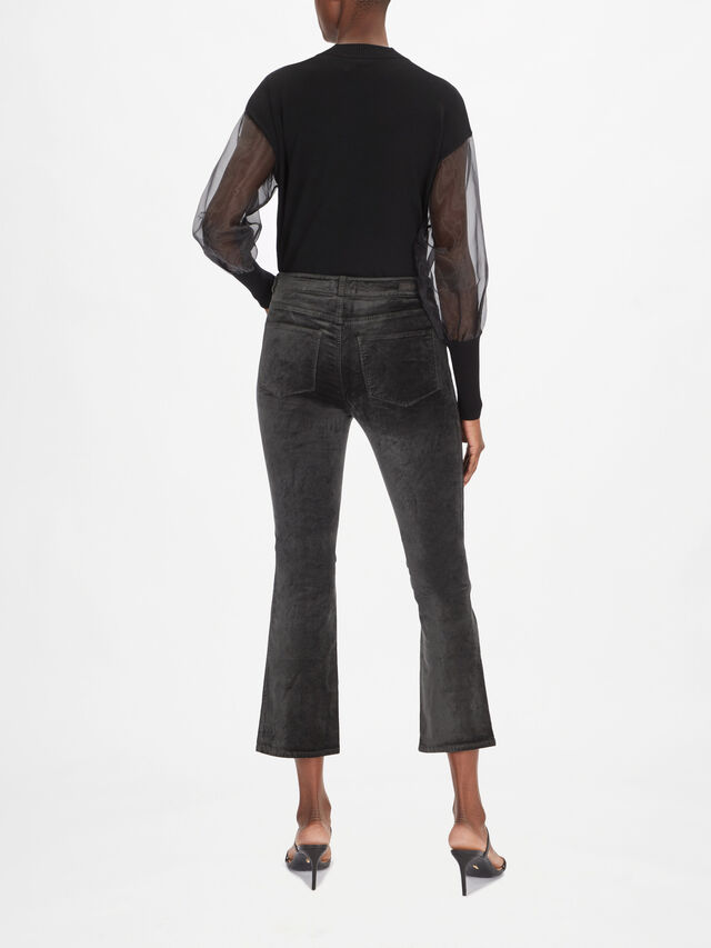 Claudine Double Button Crop Boot Jeans