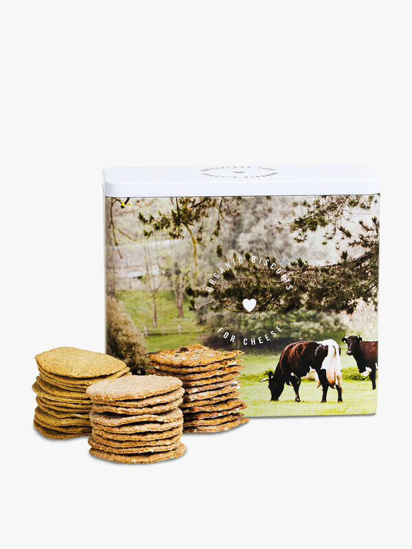 Organic Savoury Biscuit Selection Tin