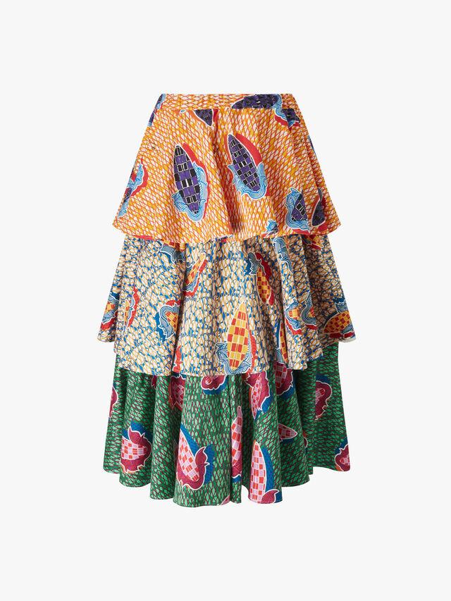 Multi Layer Print Skirt