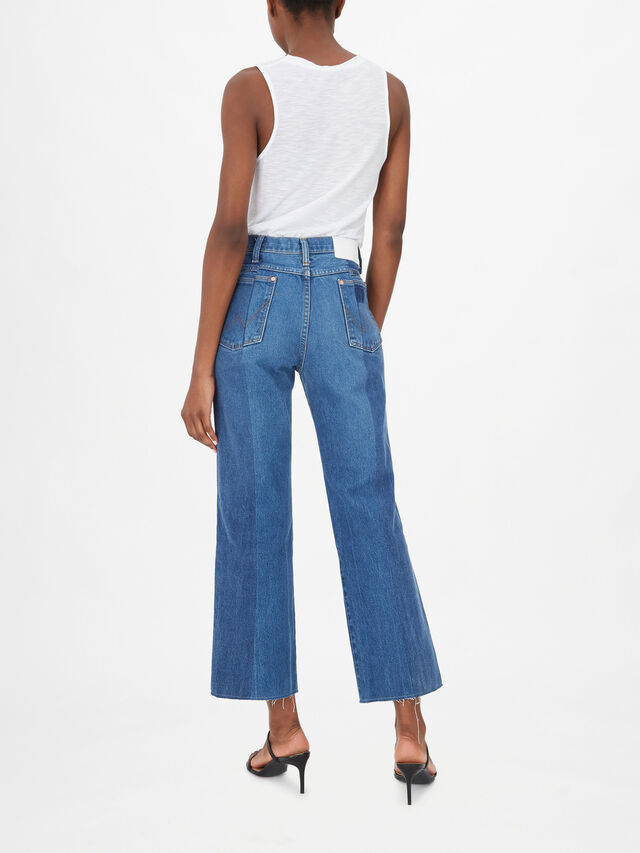 The Twin Flare Jean Cropped