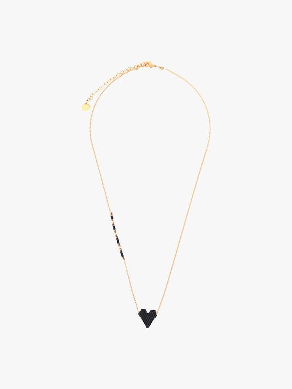 Heartsy Beaded Necklace