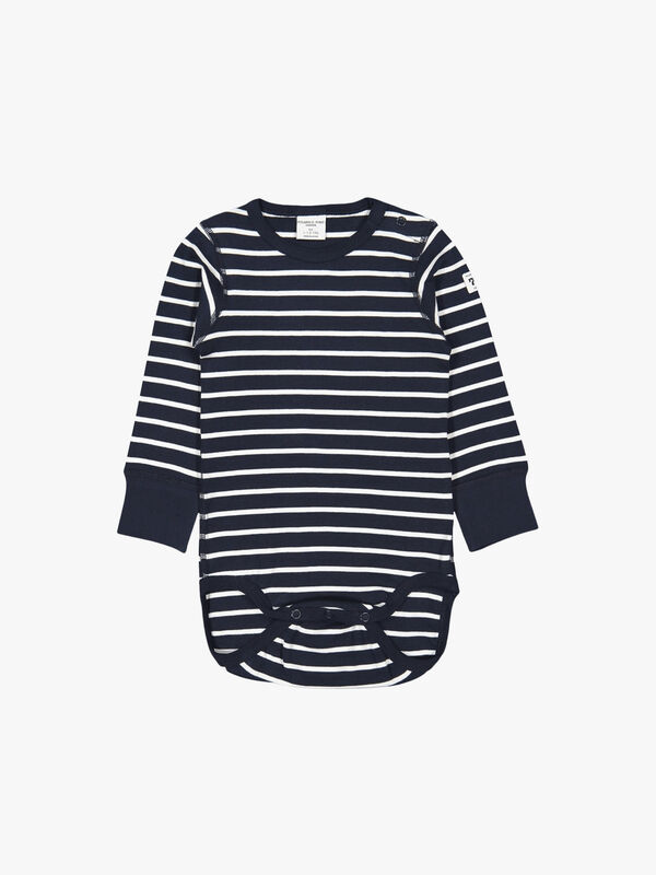 Striped GOTS Organic Baby Bodysuit