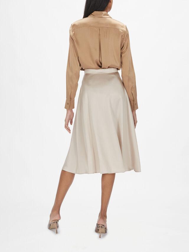 Pompei A-Line Midi Skirt