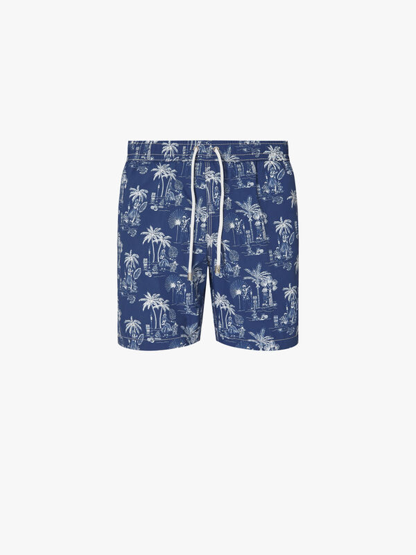 Elvis Print Swim Short