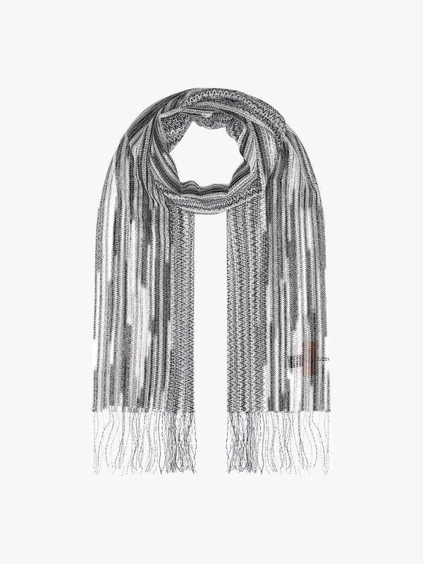Stripe sheer scarf