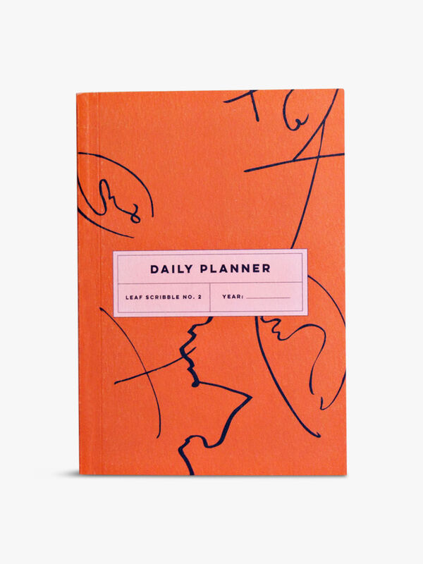 Daily Planner Leaf Scribble Notebook