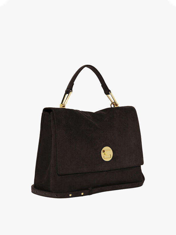 Liya Suede Top Handle Bag
