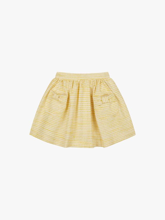 Textured Pocket Bow Skirt