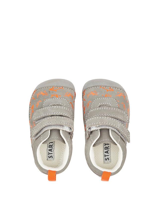 Little Fin Grey Nubuck Baby Shoes