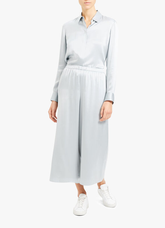 Fluid Pull On Wide Leg Trousers