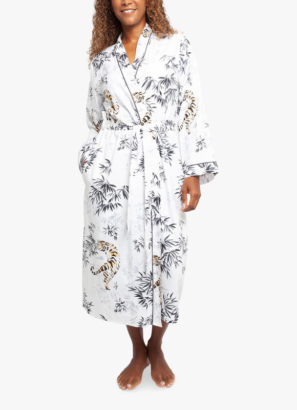 Willow Tiger Print Long Robe