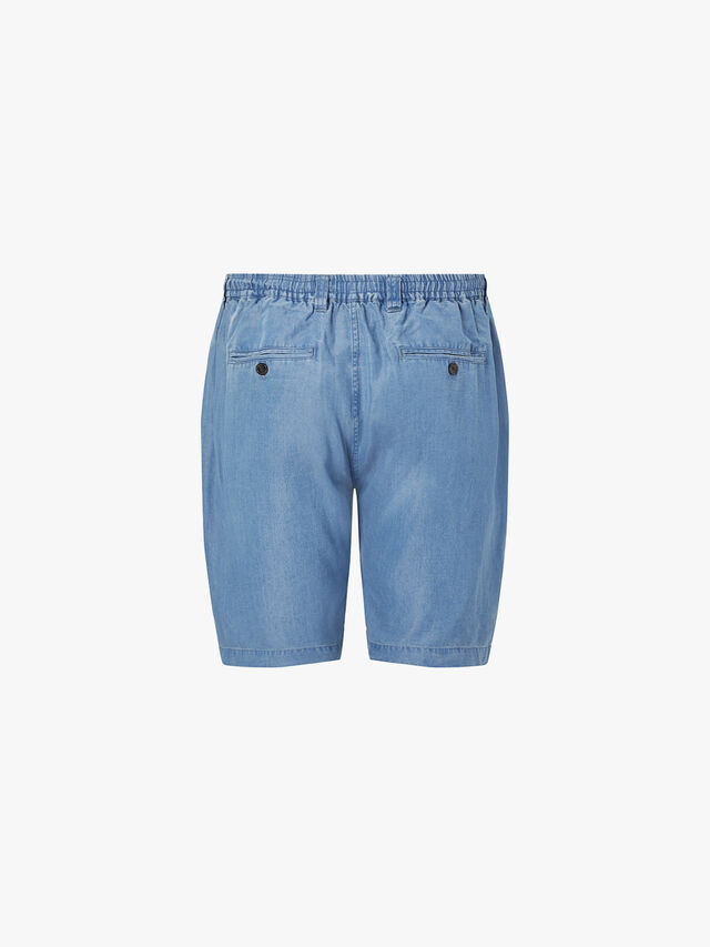 Keigo Pleat Denim Shorts