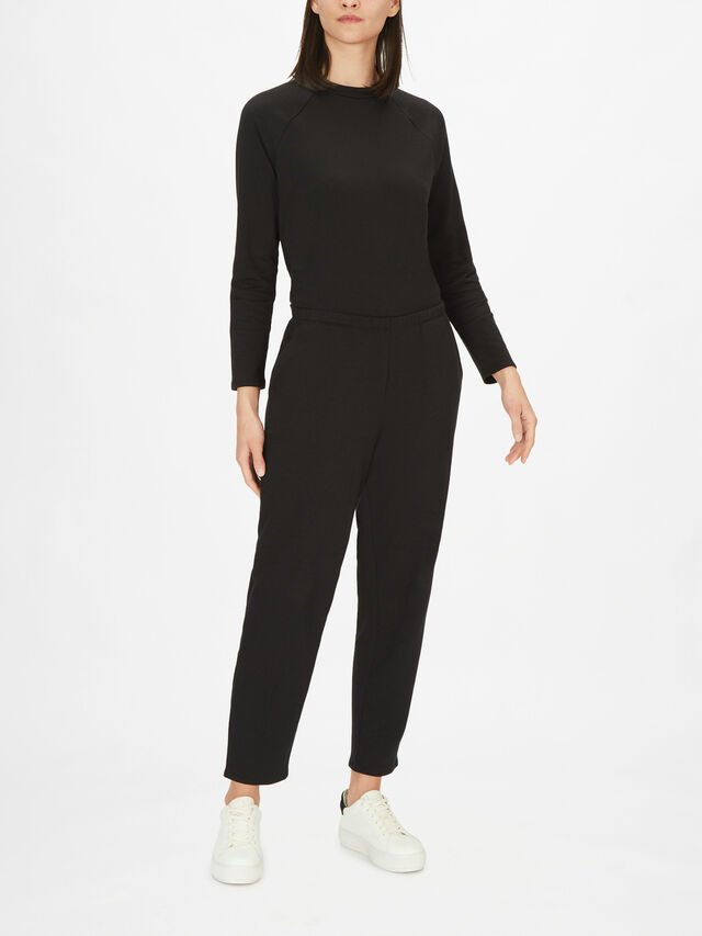 Tencel Blend Organic Cotton Tapered Ankle Pant