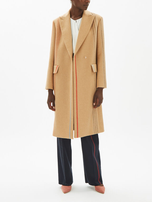 Veletta Stripe Detail Coat