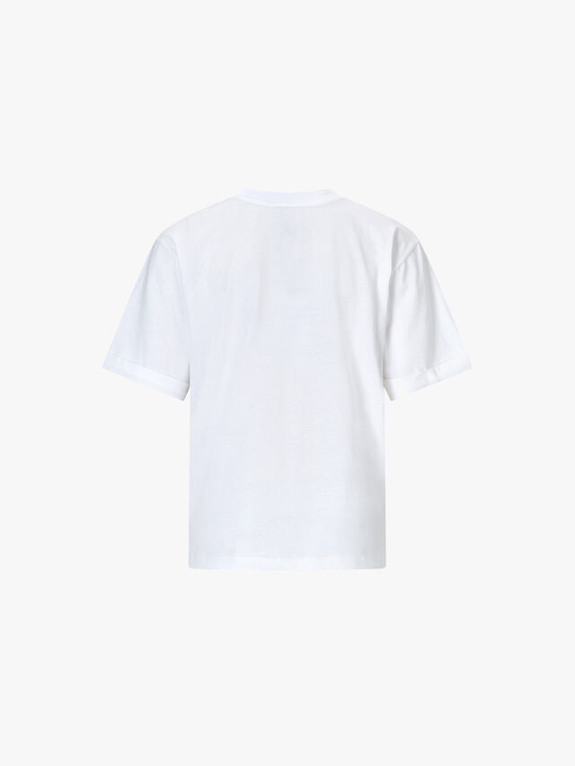 Charlie Rolled Sleeve Printed T-Shirt