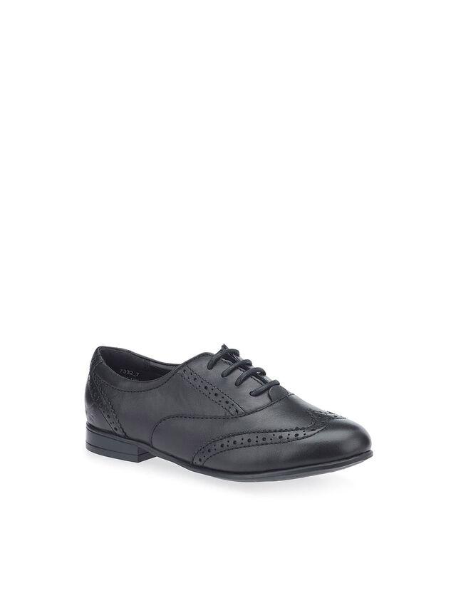 Matilda Black Leather School Shoes