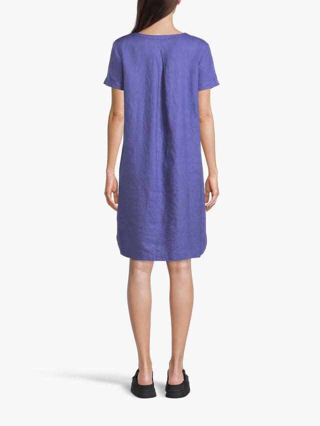 Nalani Shift Dress wiith Shoulder Button Detail