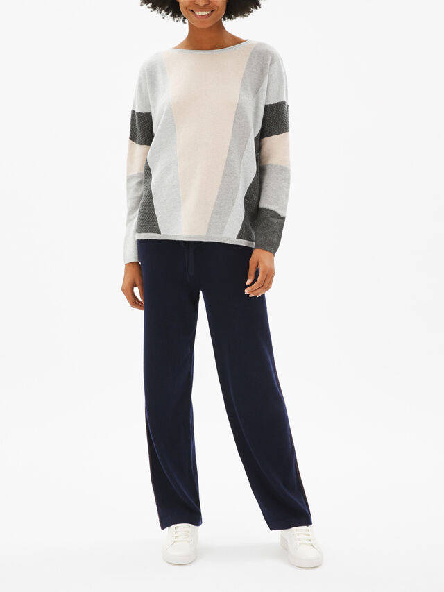Drop Shoulder Colour Block Knit