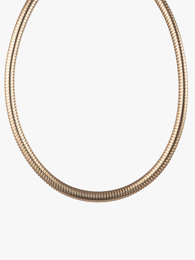 Gold Tone Omega Collar Necklace