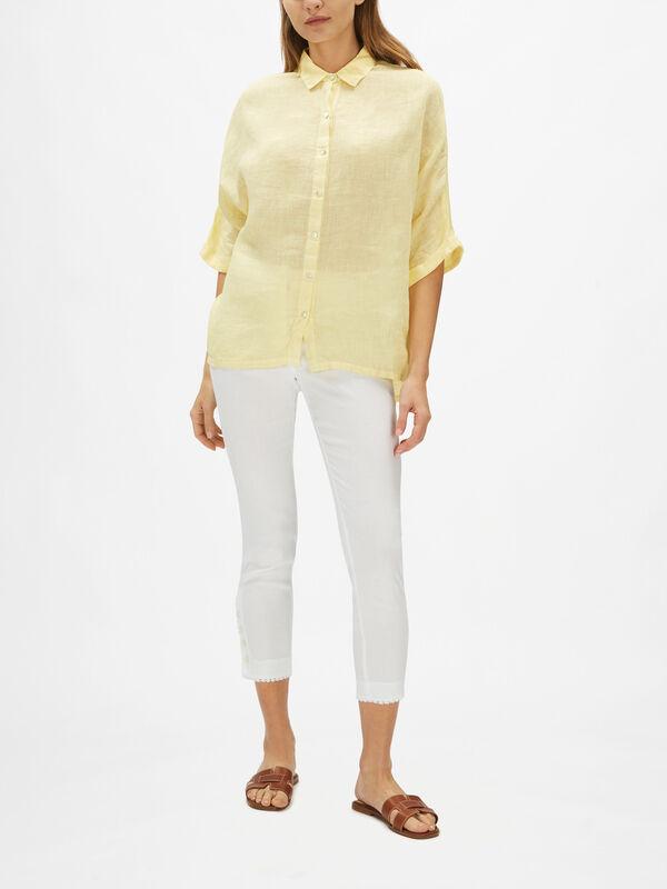 Drop Sleeve Linen Shirt