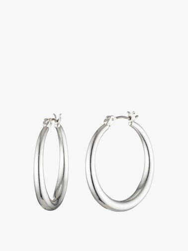 Silver Tone Gradual Hoop Earrings