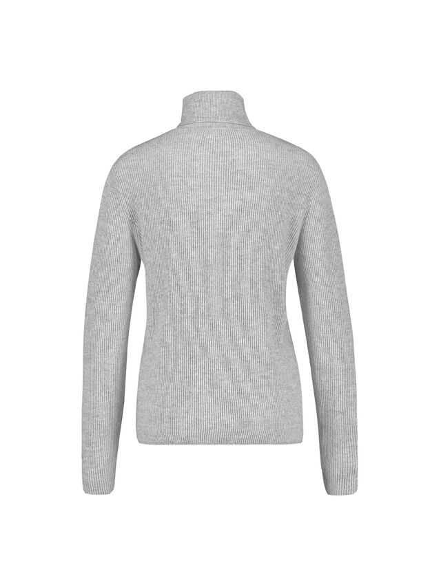 Polo Neck Ribbed Jumper