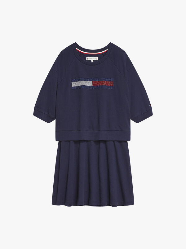 Lurex Flag Knit Dress