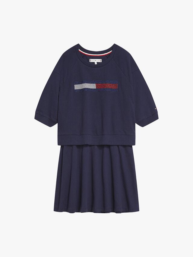 Lurex Flag Knit Dress