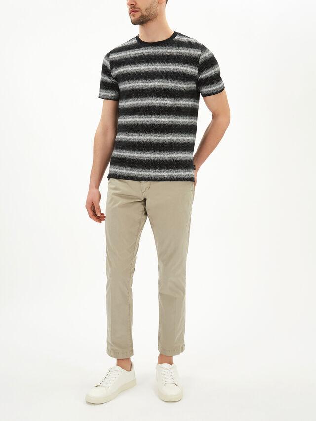 Striped White Noise T-Shirt