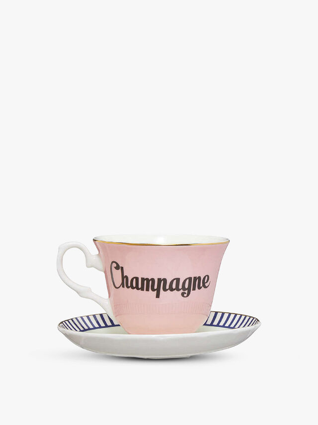 Champagne Teacup & Saucer