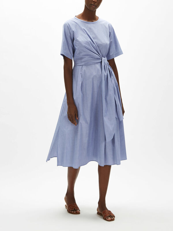Dedalo Cotton Dress With Tie Detail