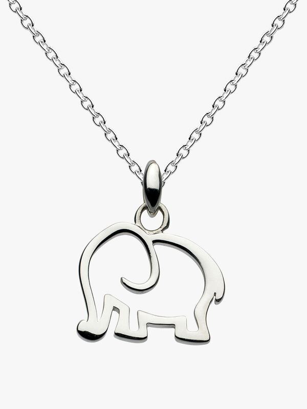 Dew Dinky Elephant Pendant Necklace