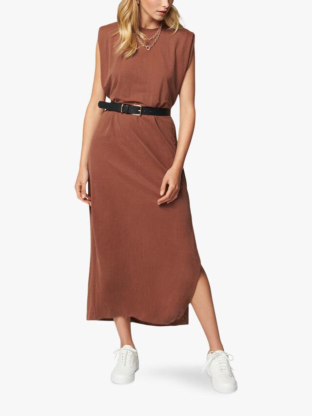 Zoe Extended Shoulder Column Dress
