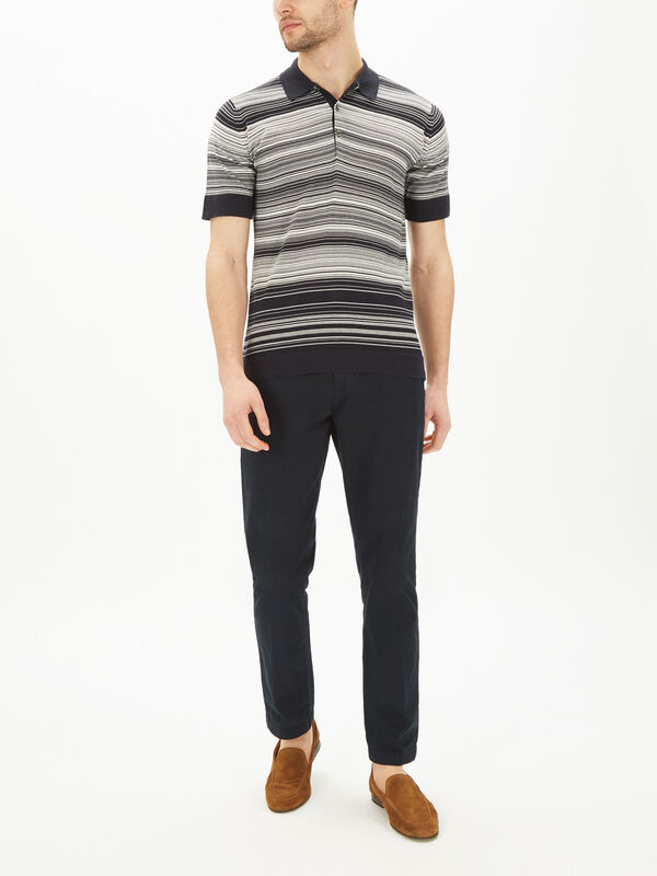 Timber Striped Polo Shirt