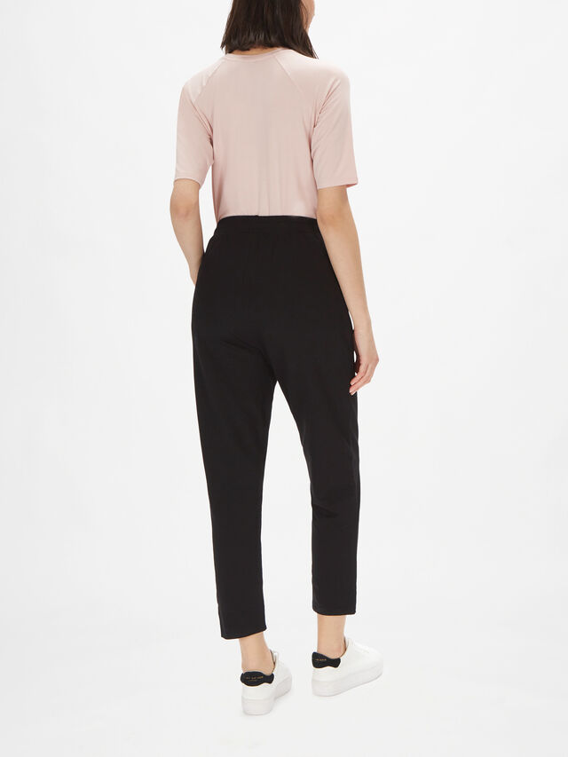 Petrasia Straight Leg Pull On Jersey Pant with Side Pockets