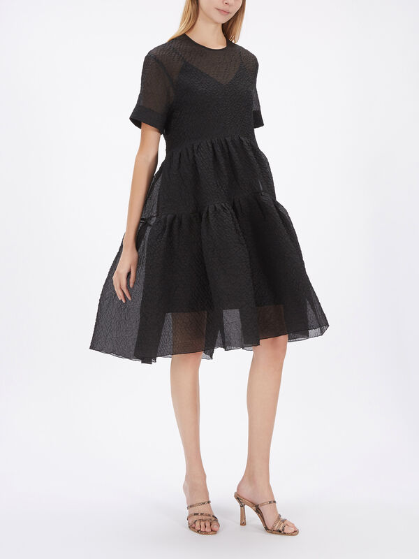 Exaggerated Cocoon Dress
