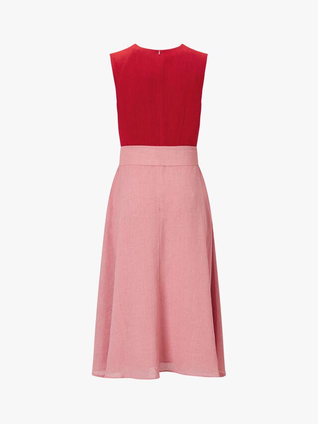 Sleeveless Colour Block Midi Dress