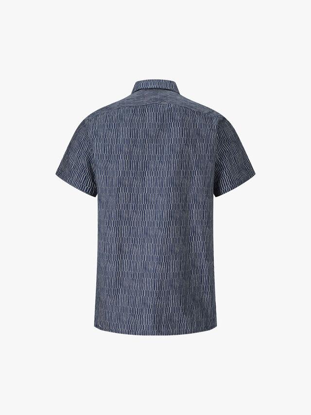 Classic Fit Scramble Net Print Shirt