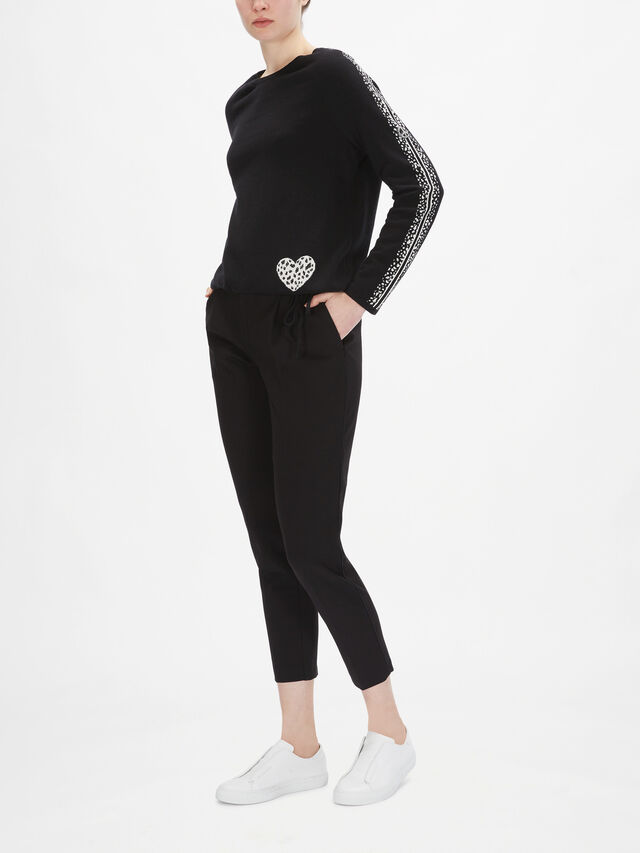 Heart Detail and Spot Arm Knit