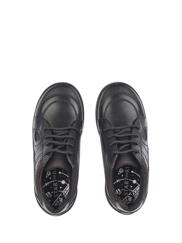 Yo Yo Black Leather School Shoes