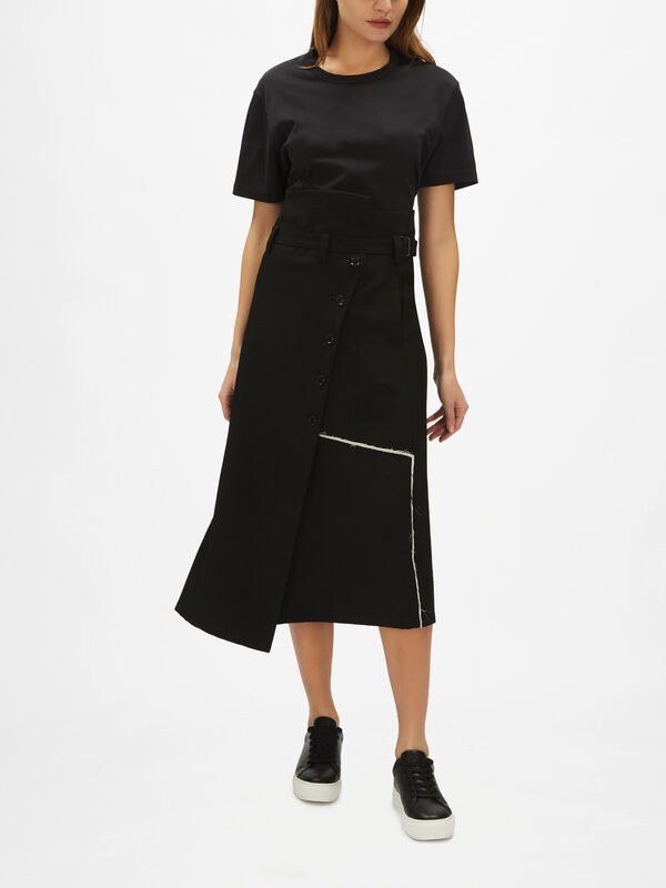Double Belt Wrap Skirt