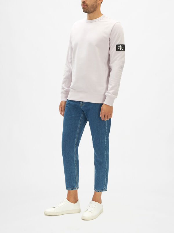 Monogram Badge Crew Neck Sweater
