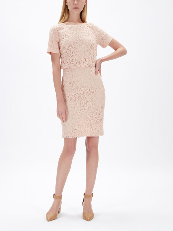 Jeri Lace Short Sleeve Day Dress