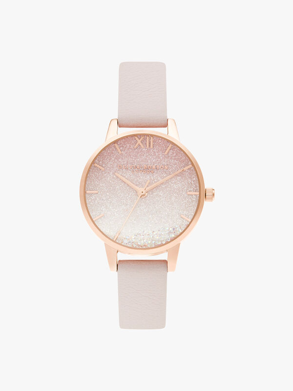 Sunrise Wishing Wave Midi Dial Pearl Pink & Rose Gold Watch