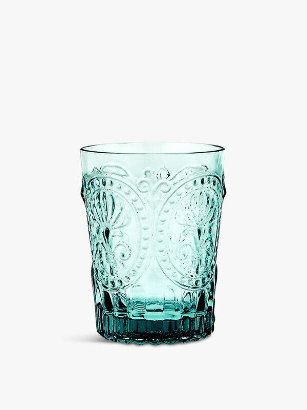 Small Fleur de Lys Glass