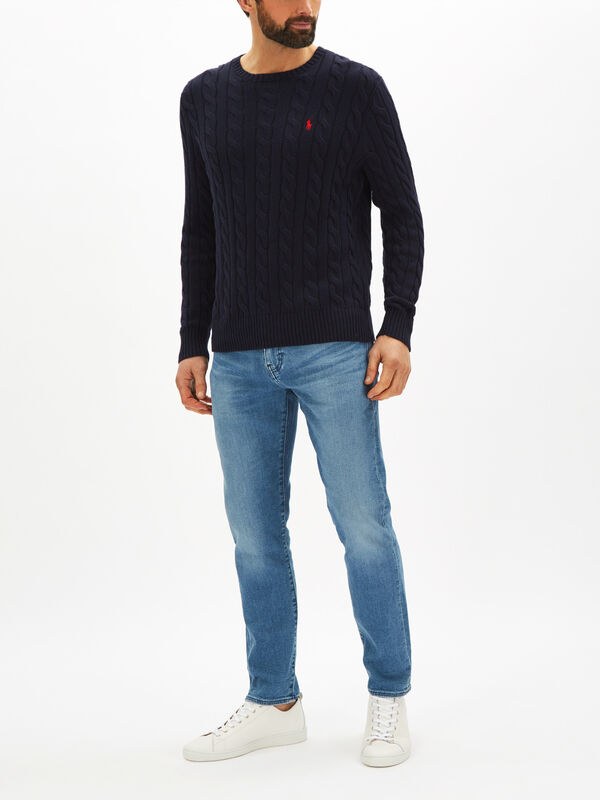 Cable-Knit Sweatshirt