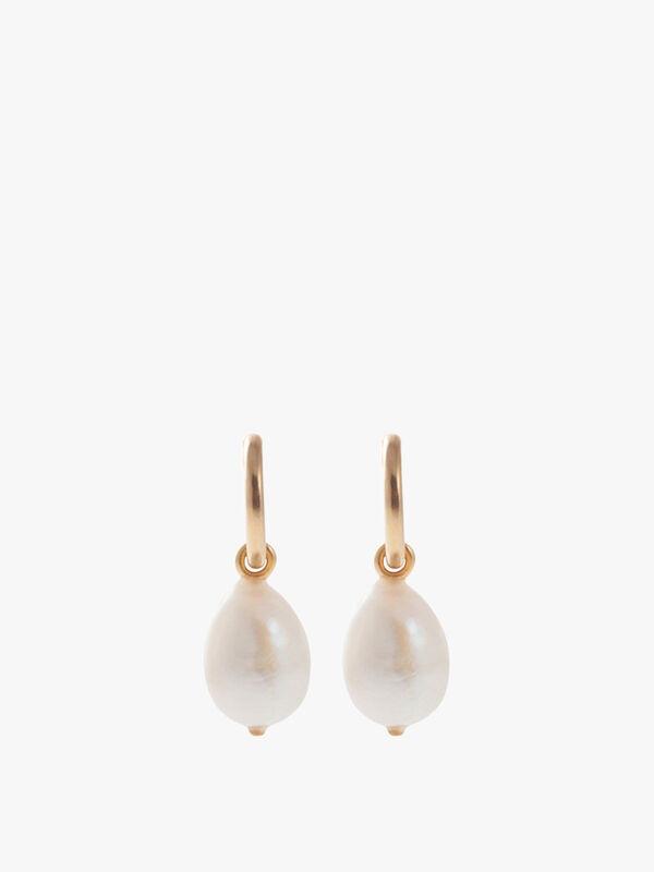 Sea Pearl Hoop Earrings