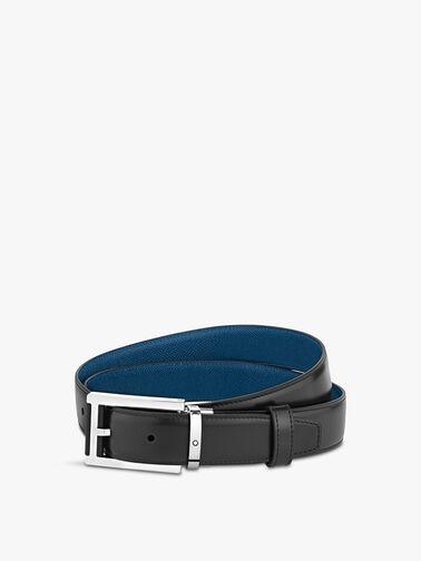 Classic Rectangular Black & Blue Belt