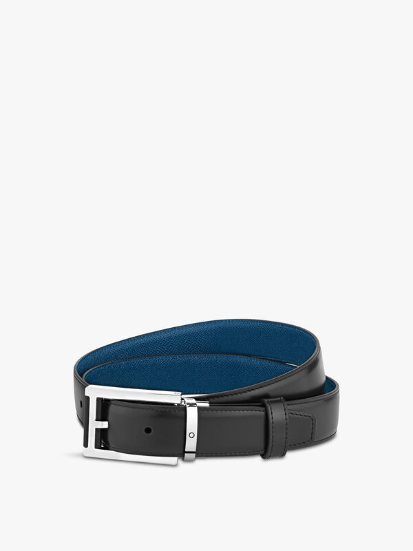 Classic Rectangular Black & Blue Belt